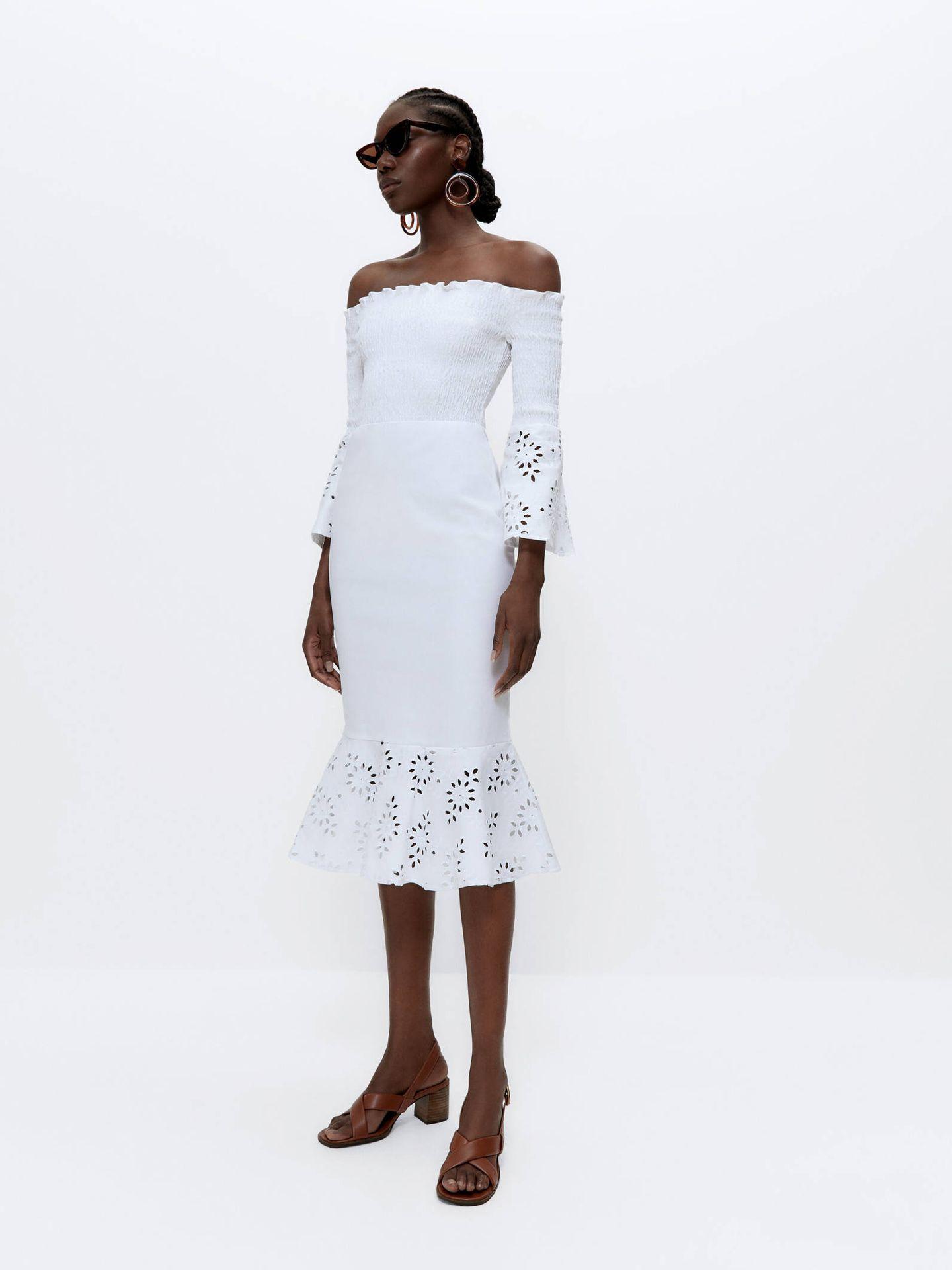 Vestido para novias sofisticadas de Uterqüe. (Cortesía)