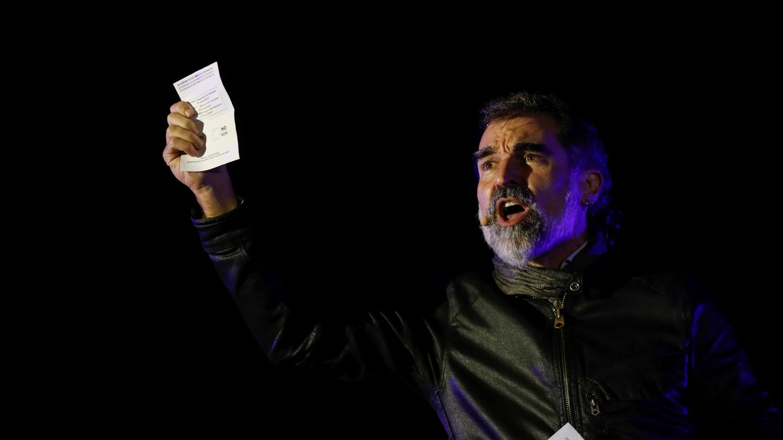 Jordi Cuixart, durante un mitin a favor del referéndum ilegal del 1-O. (Reuters)