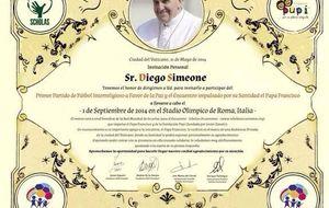 El Papa 'bendice' la incipiente relación del Cholo y Carla Pereyra
