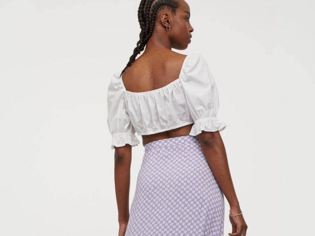 Foto: La falda pareo de HyM con estampado floral. (Cortesía)