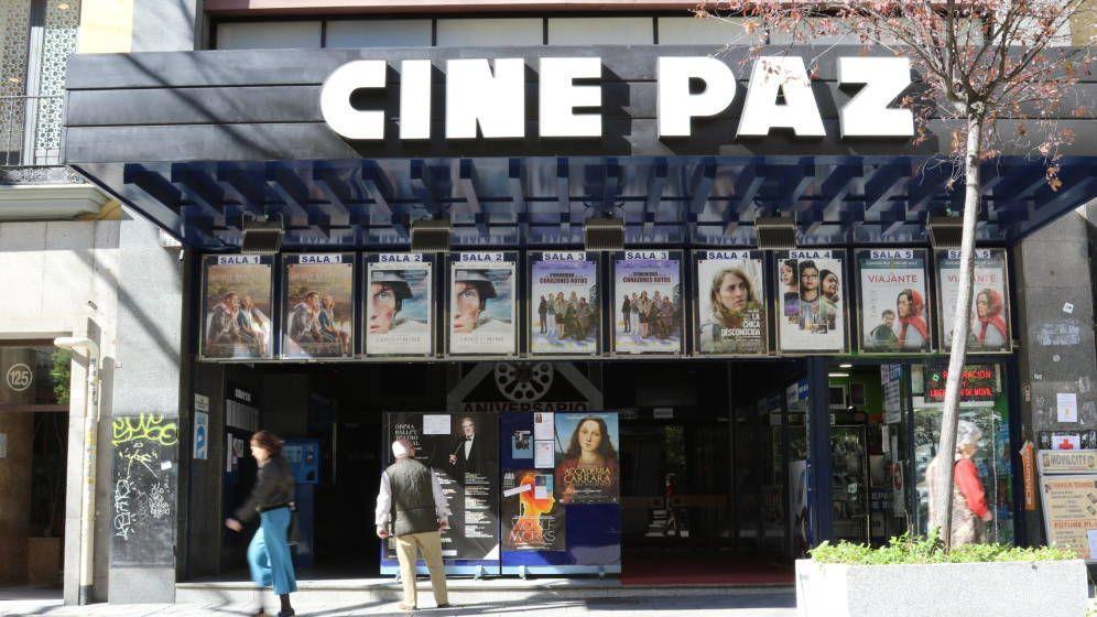 Foto: El Cine Paz, situado en la calle Fuencarral de Madrid. (E. Torrico)
