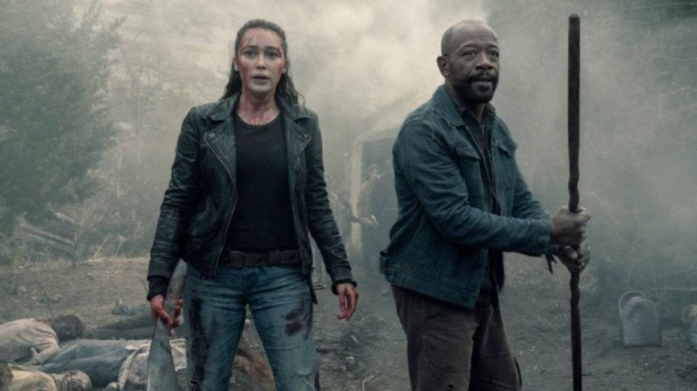 Foto: Alycia Debnam-Carey y Lennie James en 'Fear The Walking Dead'. (AMC)