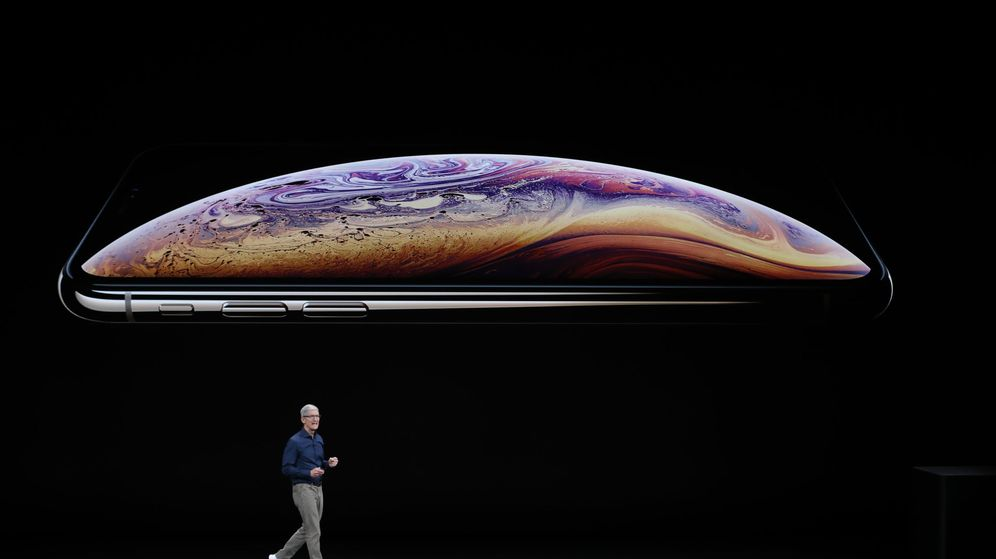 Foto: Tim Cook, CEO de Apple durante la Keynote de 2018. (REUTERS)