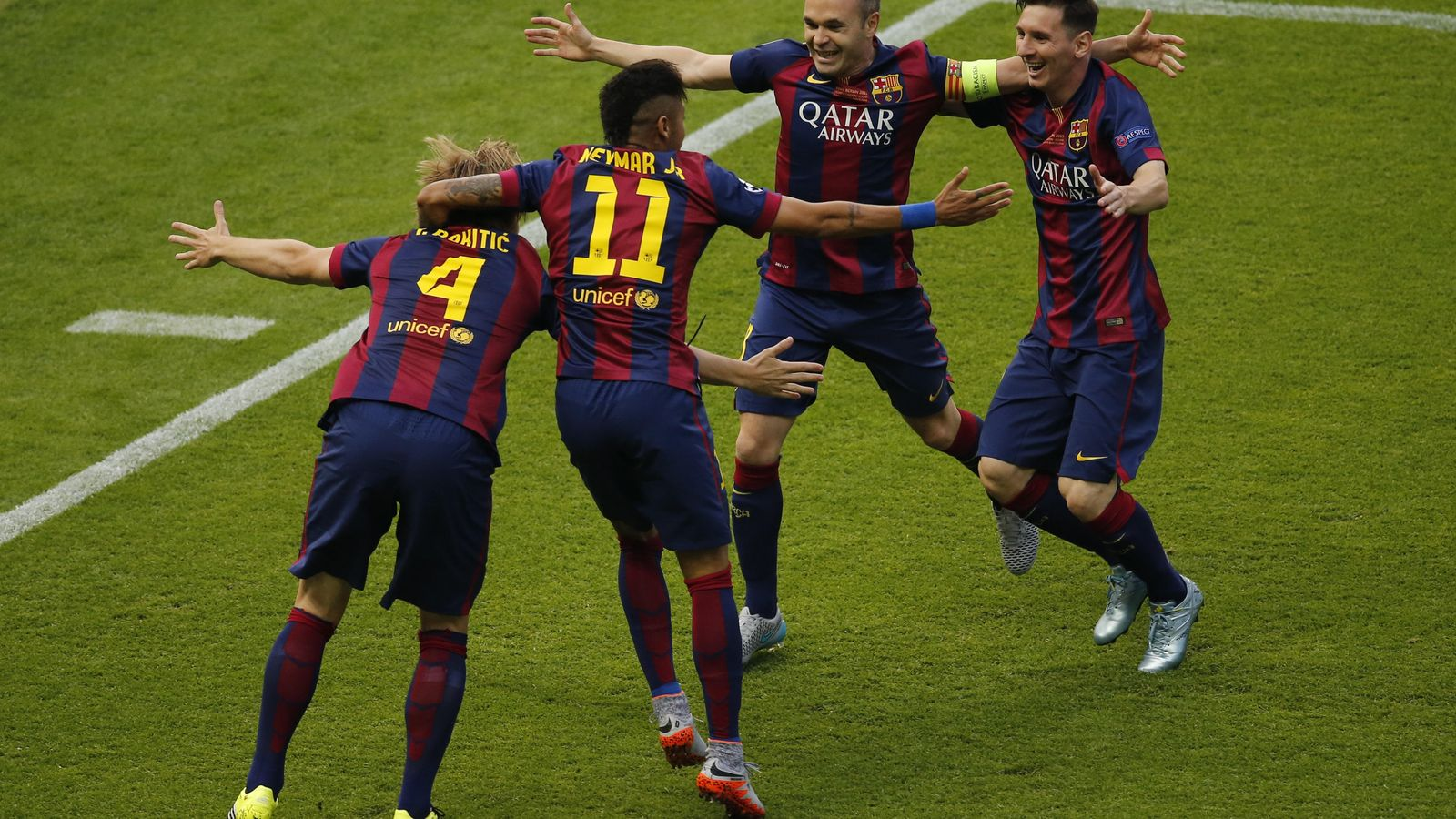 Foto: El Barcelona cerró en Berlín una temporada fantástica (Reuters)