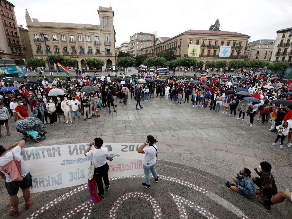 Foto: Concentración en A Coruña. (EFE)