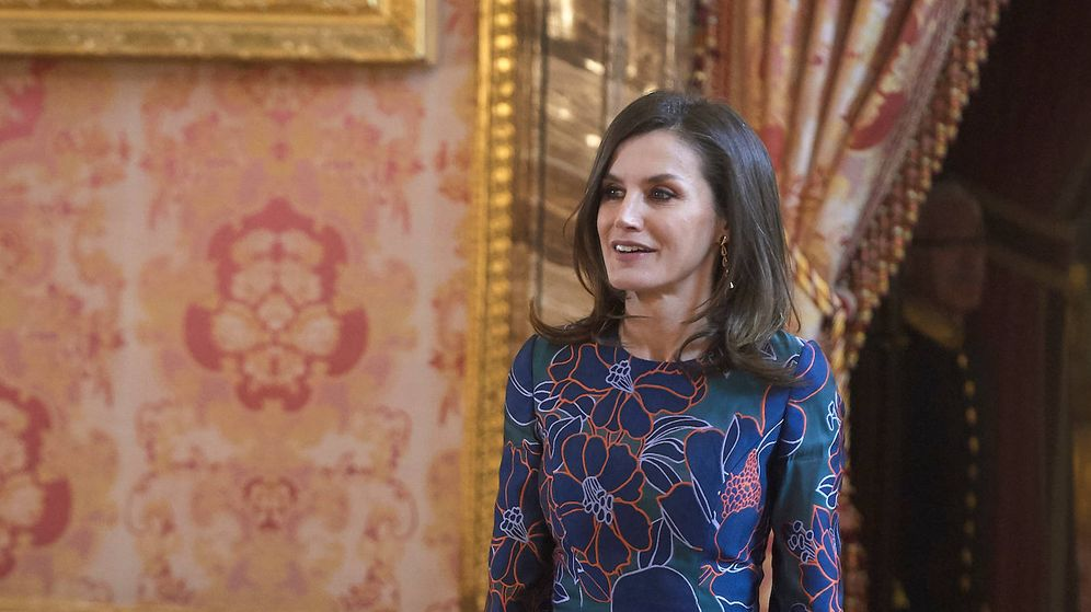 Foto: La reina Letizia en el almuerzo del Cervantes. (Limited Pictures)