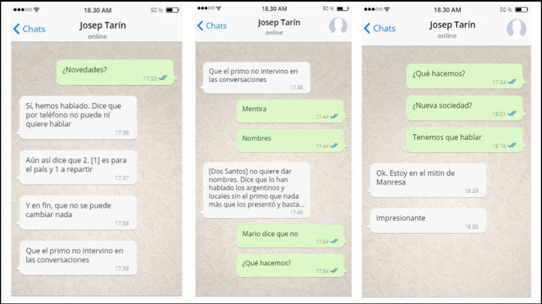 Conversación descubierta por la UDEF en el móvil de Jordi Pujol Ferrusola, correspondiente al 18/09/2015. (Recreación del contenido hecha por El Confidencial)