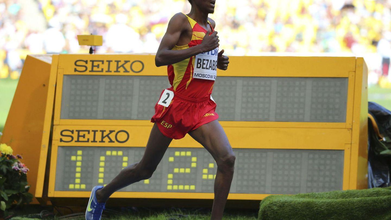 Bezabeh, en el Mundial de atletismo de Moscú (Efe).