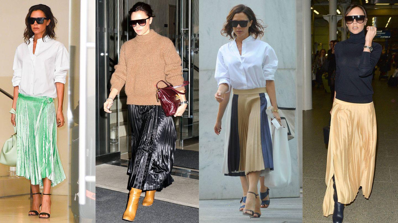 La falda plisada en cuatro versiones by Victoria.