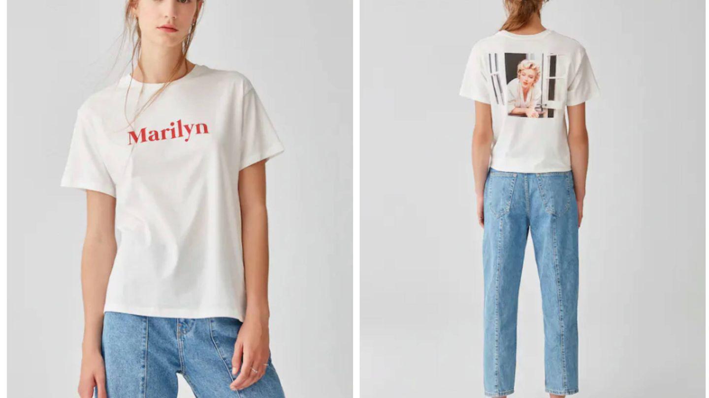La camiseta de Marilyn Monroe que vende Pull and Bear. (Cortesía)