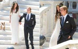 Andrea Casiraghi y Tatiana Santo Domingo, la boda de las grandes ausencias