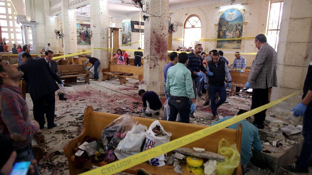 Foto: Estado de la iglesia de Tanta tras la explosión. (EFE)