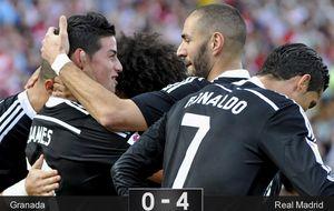 Y al final, el Real Madrid sí pasó por encima del Granada con un Cristiano sensacional