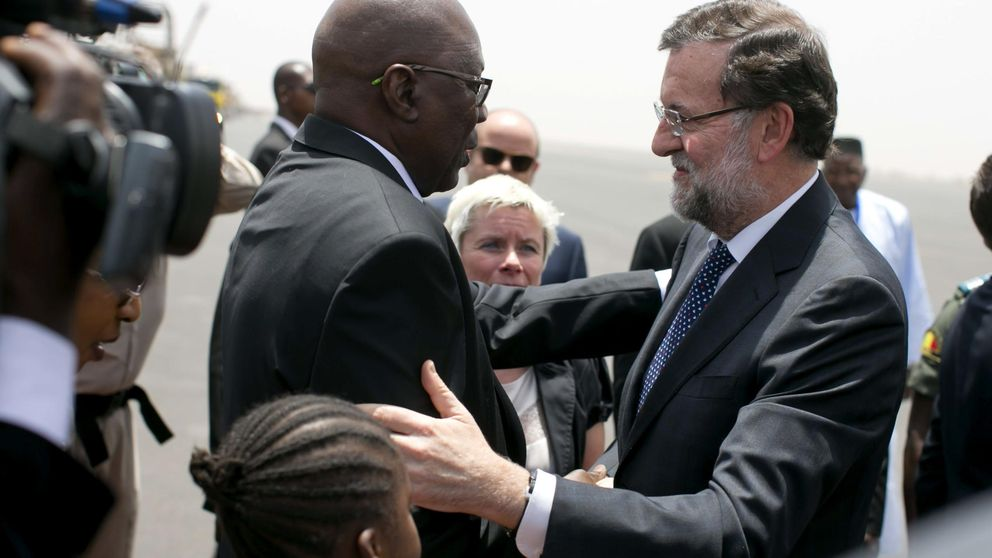 Rajoy visita a las tropas españolas en misión contra el yihadismo en Mali
