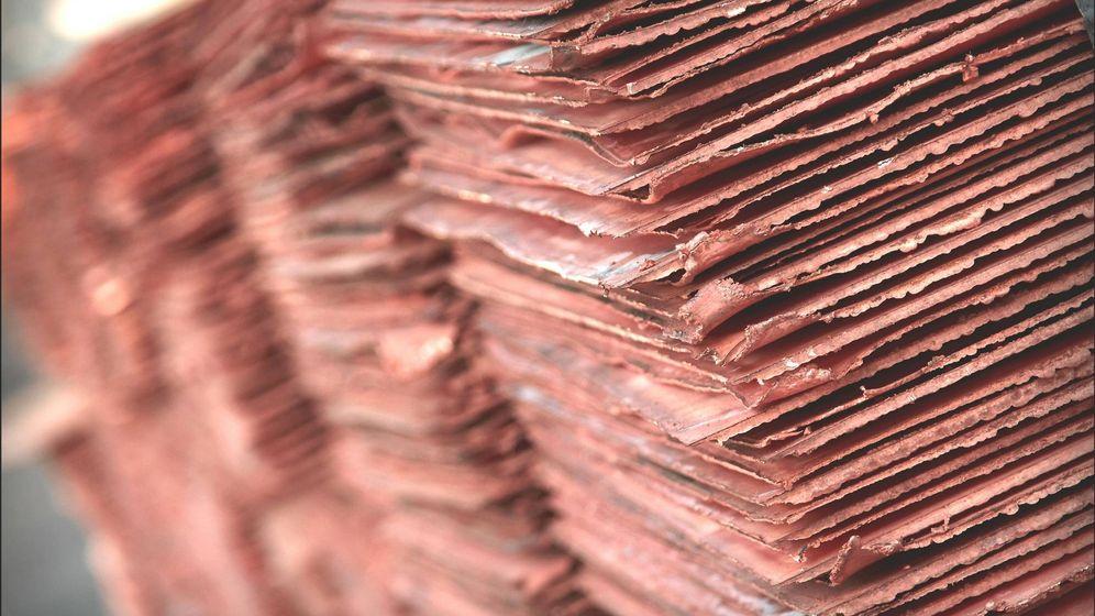 Foto: Cátodos de cobre salidos de la fundición de Huelva. (Atlantic Copper)