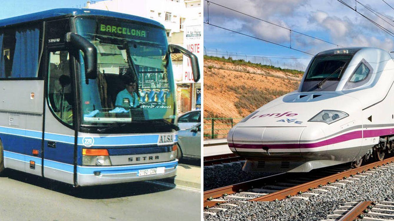 Los viajeros de bus se hunden al mínimo en 10 años ante el récord histórico del tren