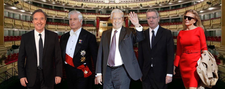 Foto: Algunos de los personajes vips que se dejan ver en el Teatro Real (Fotomontaje: Vanitatis)