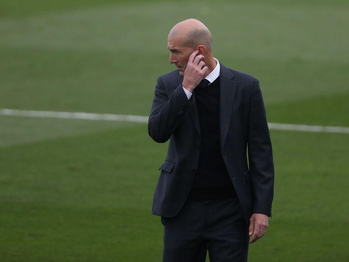 Foto: Zidane durante el partido contra el Villarreal en LaLiga. (EFE)