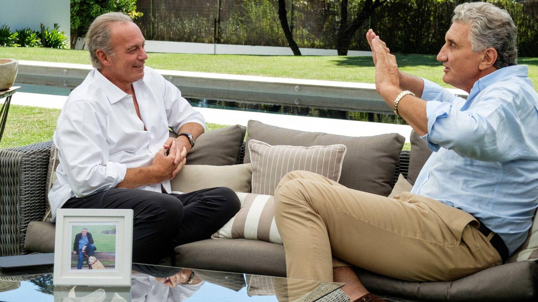 Bertín Osborne con Fernando Romay. (Mediaset)