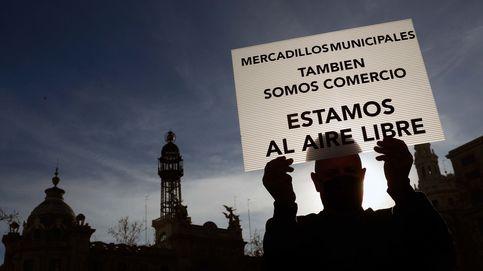 Protesta de los trabajadores de los mercadillos