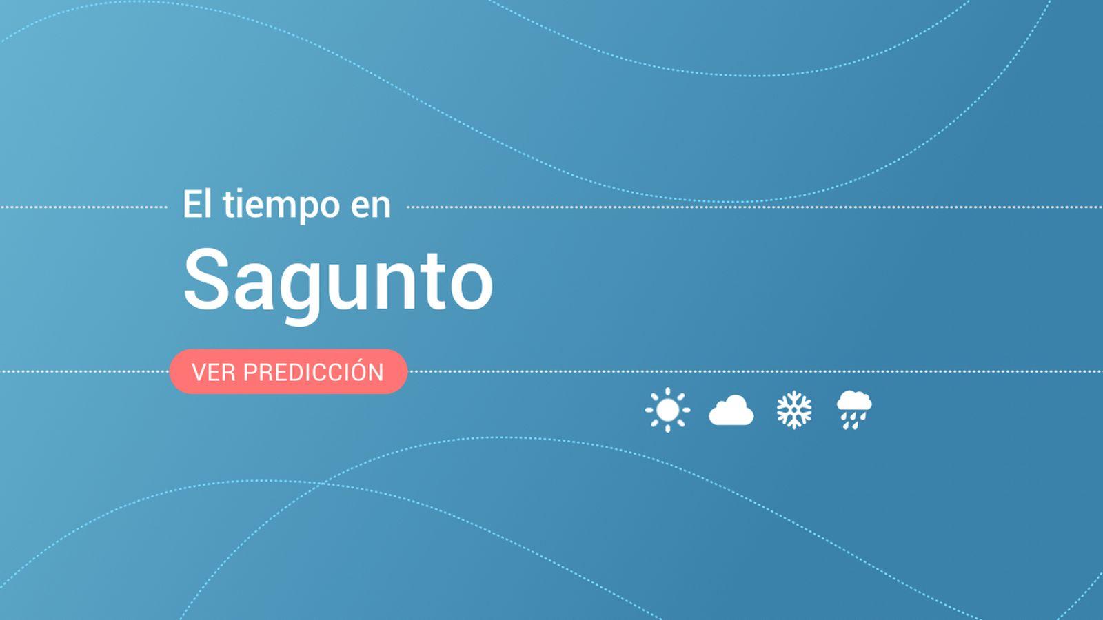 Foto: El tiempo en Sagunto / Sagunt. (EC)