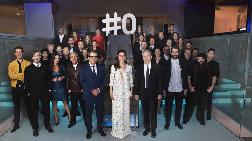 Foto: Todos los presentadores de #0, en la presentación del canal. (Movistar )
