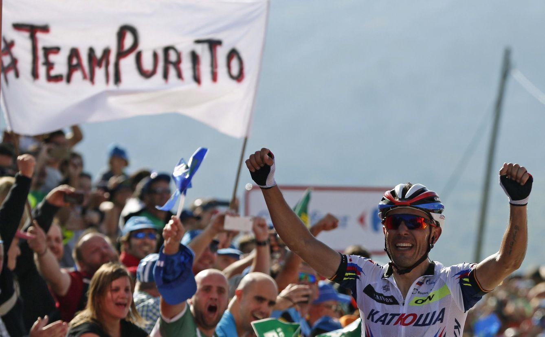 Foto: A Purito le quedan seis etapas para lograr su gran sueño (EFE).