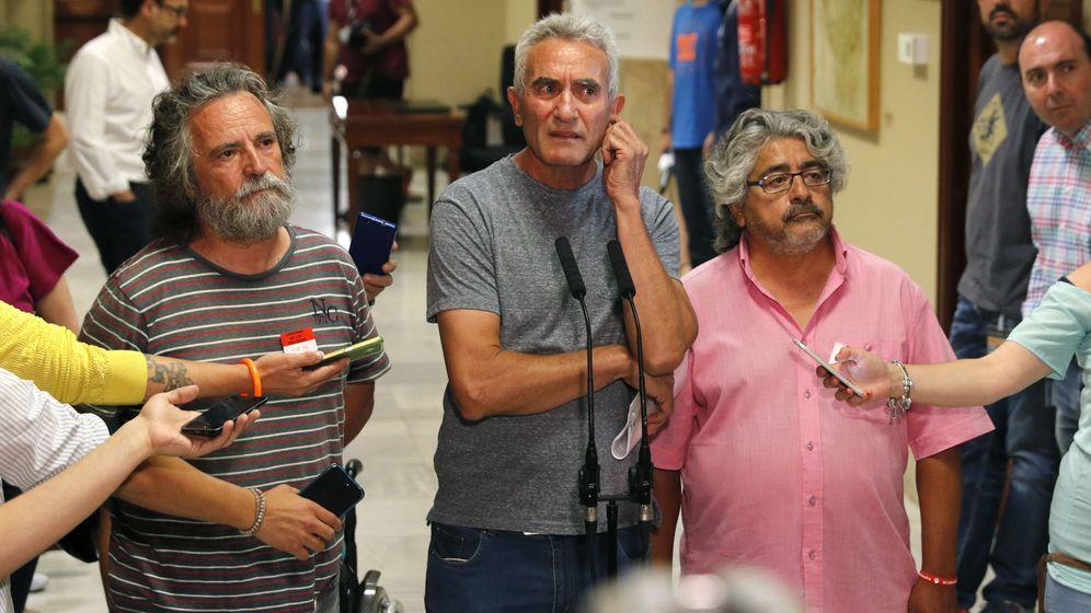 Foto: El líder del Sindicato Andaluz de Trabajadores (SAT), Diego Cañamero. (EFE)