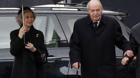 Don Juan Carlos y Doña Sofía en el funeral del gran duque Jean de Luxemburgo