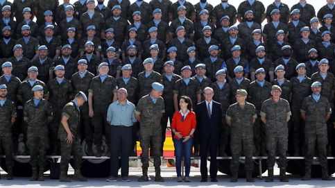 Robles recorre las posiciones españolas en la 'línea azul' entre Líbano e Israel