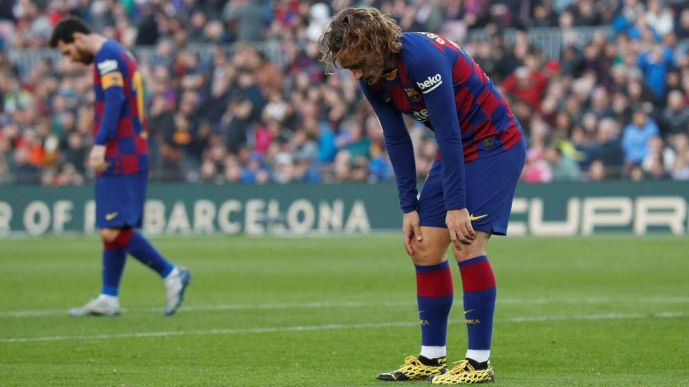 Foto: Griezmann, junto a Messi, en una imagen de principios de temporada. (Reuters)