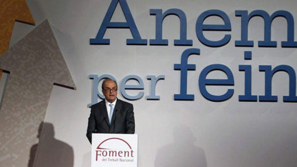 El acto de la patronal catalana Fomento levanta ampollas pese a su tibieza política