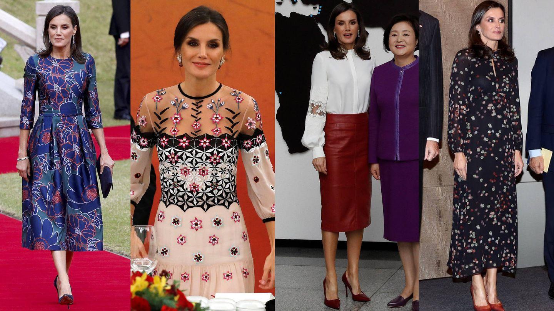 Los looks de Letizia en Corea. (EFE)