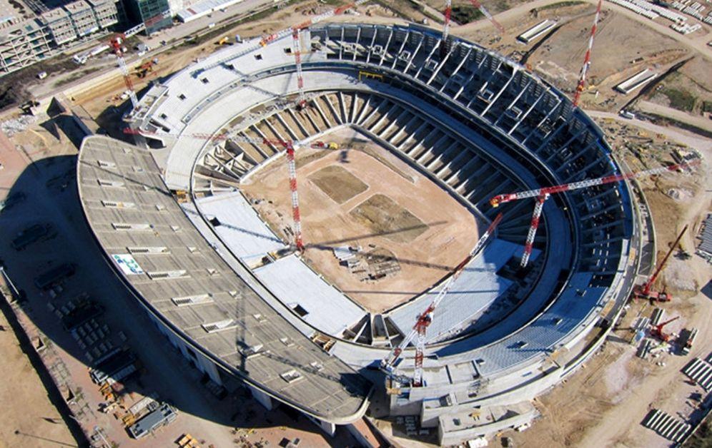 Foto: Fotografía facilitada por el Atlético de Madrid de la evolución de las obras del estadio de La Peineta. (EFE)