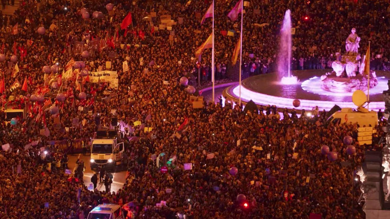 Manifestación en Madrid. (Netflix)