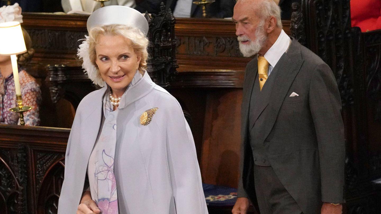 La princesa Michael de Kent en la boda de Eugenia de York. (Getty)