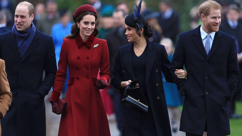 Foto: El príncipe Guillermo, Kate Middleton, Meghan Markle y el príncipe Harry, en una imagen de archivo. (Getty)