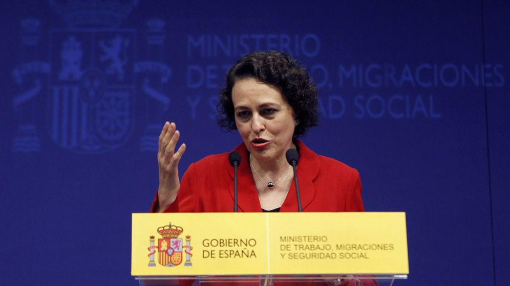 Foto: La nueva ministra de Trabajo, Migraciones y Seguridad Social, Magdalena Valerio. (EFE)
