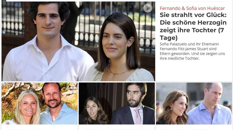 Portada de la versión online del alemán 'Bunte'