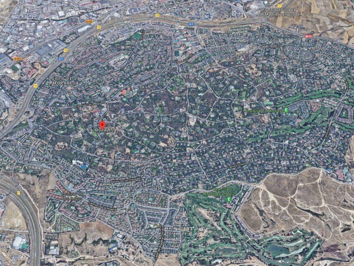 Foto: Vista aérea de La Moraleja.