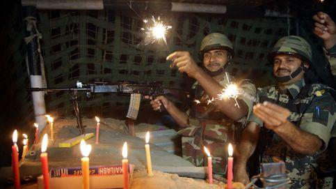 Celebración del festival diwali