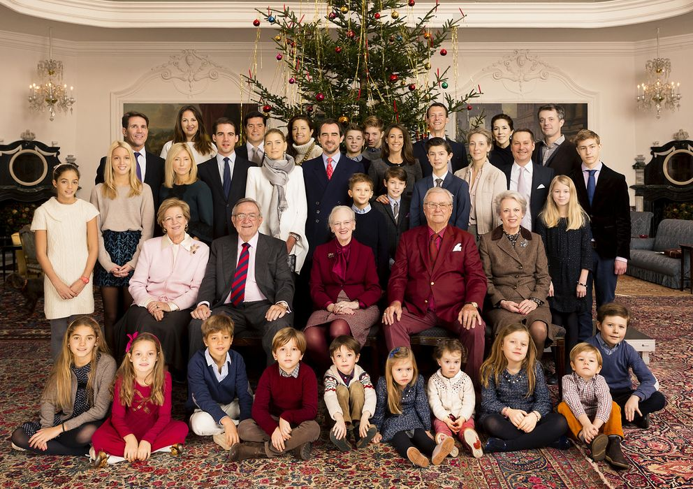 Foto: La familia real danesa en una de las estancias del Fredensborg Palace (Gtres)