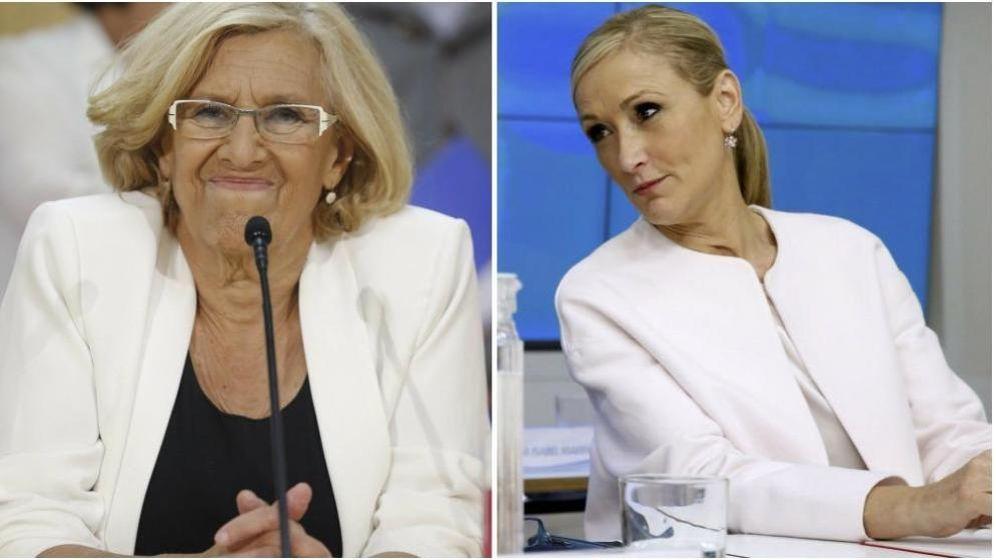 Foto: Manuela Carmena, a la izquierda, y Cristina Cifuentes (Fotos: EFE)