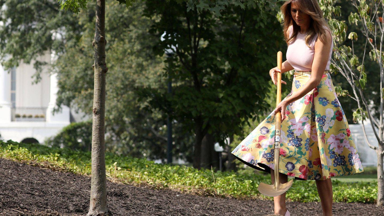 Melania, de Valentino. (Reuters)