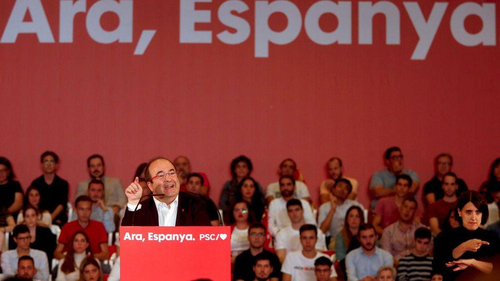 Foto: El secretario del PSC, Miquel Iceta, en un mitin de la formación. (EFE)