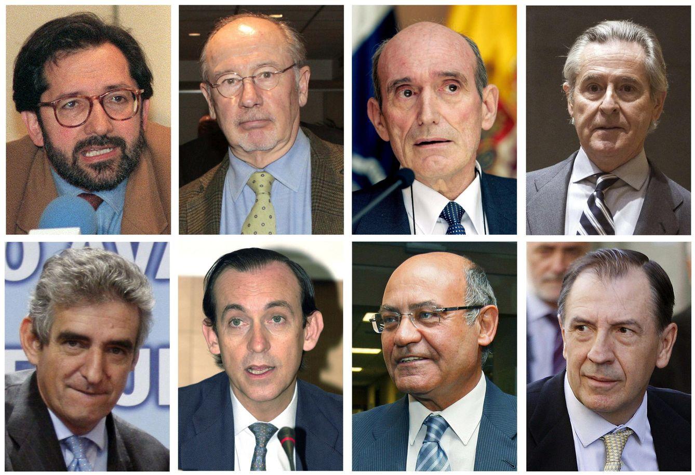 Foto: Algunos de los consejeros y directivos de Caja Madrid con tarjetas 'black'. (EFE/Archivo)