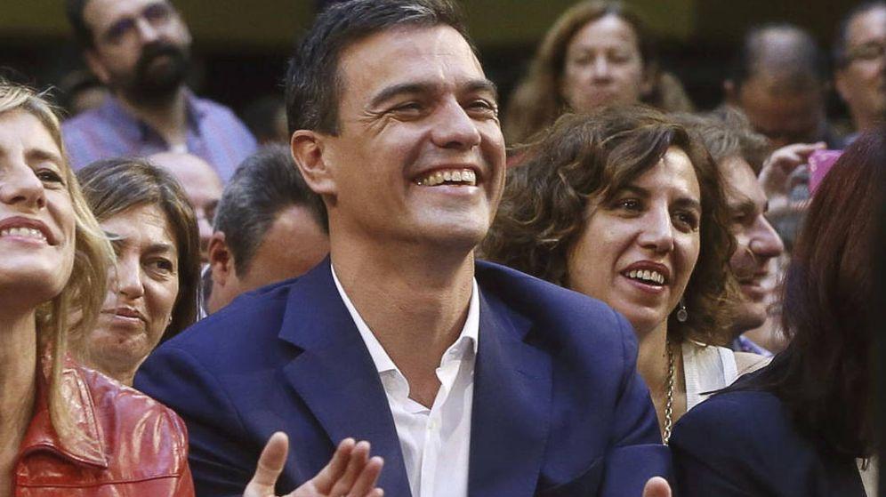 Foto: Irene Lozano y Pedro Sánchez. EFE