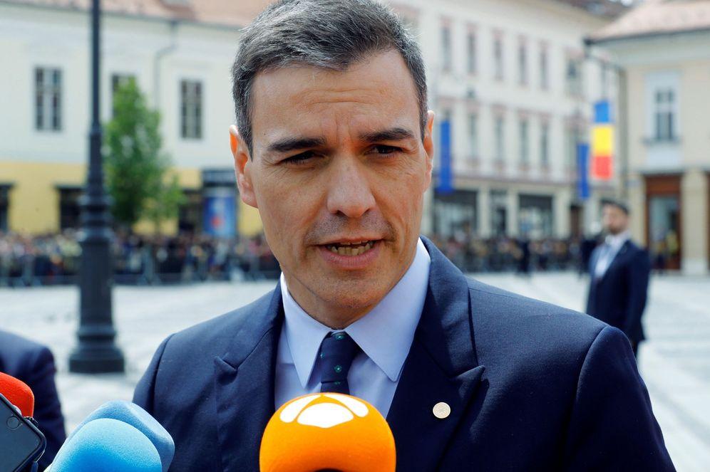 Foto: Pedro Sánchez, este 9 de mayo a su llegada a la cumbre informal de líderes en Sibiu, Rumanía. (EFE)