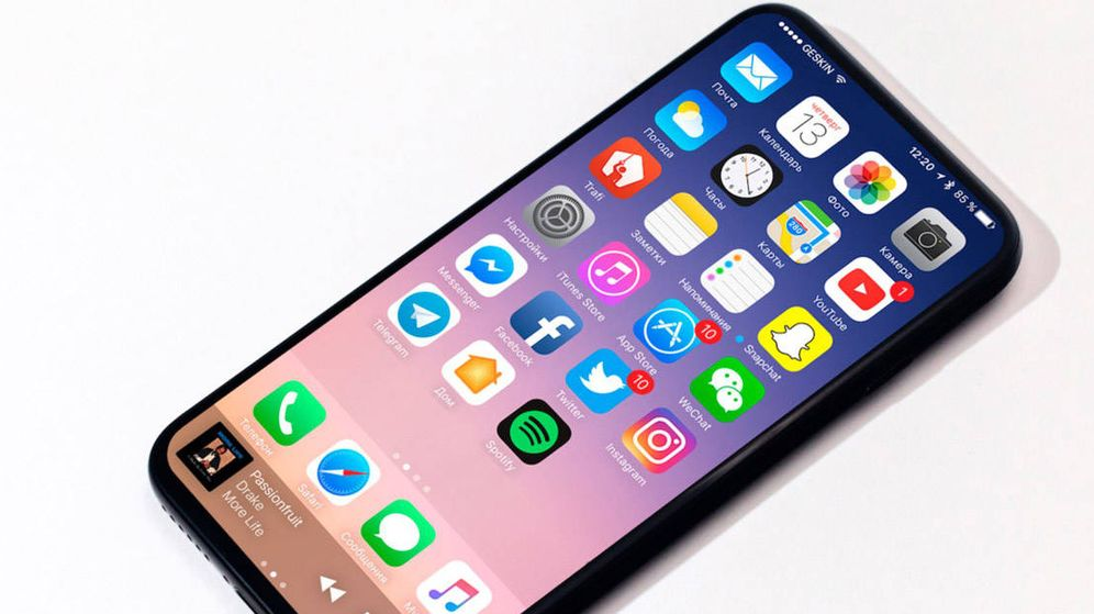 Foto: Una de las filtraciones del nuevo aspecto del iPhone 8. (EC)