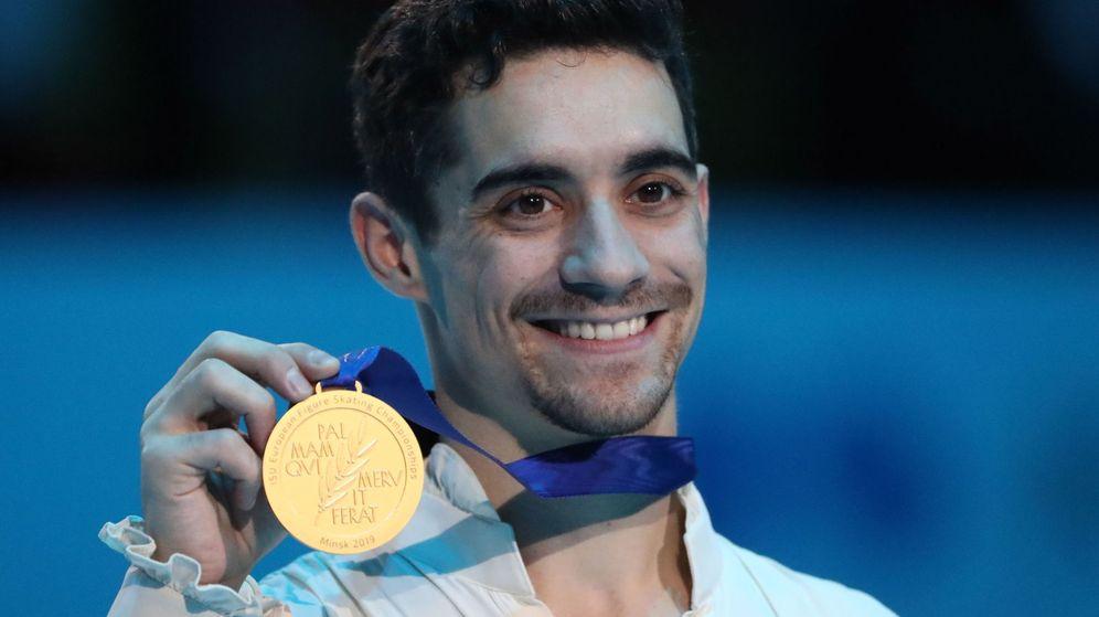 Foto: Javier Fernández posa con su medalla de oro europea. (EFE)